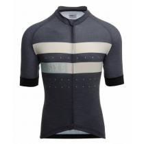 Agu six6 merino maillot de cyclisme manches courtes melange bleu