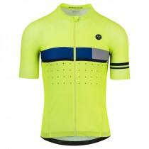 Agu classic essential maillot de cyclisme à manches courtes fluo jaune