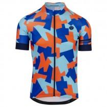 AGU camo tile maillot de cyclisme à manches courtes oxford bleu
