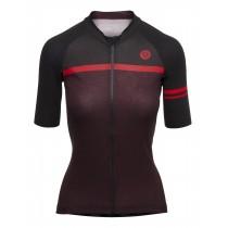 Agu essential blend maillot de cyclisme manches courtes femme windsor wine