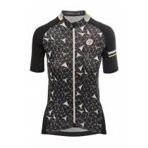 Agu geo maillot de cyclisme manches courtes femme noir