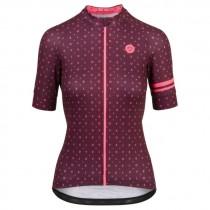 Agu velo love maillot de cyclisme manches courtes femme windsor wine rouge