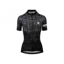 Agu pulse maillot de cyclisme manches courtes femme noir