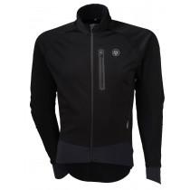 Agu pro winter softshell veste de cyclisme noir