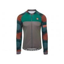 Agu hexa camo maillot de cyclisme manches longues forest vert