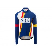 Agu six6 pnsc maillot de cyclisme manches longues bleu