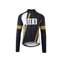 Agu six6 pnsc maillot de cyclisme manches longues noir