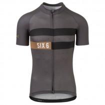 AGU six6 classic maillot de cyclisme à manches courtes gris desert marron