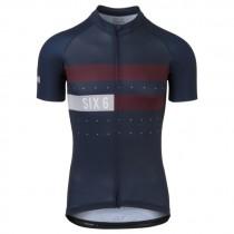 AGU six6 classic maillot de cyclisme à manches courtes deep bleu fig