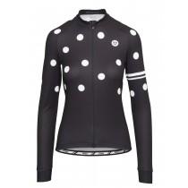 Agu essential dot maillot de cyclisme manches longues femme noir