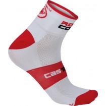 CASTELLI Rosso Corsa 6 Sock White Red