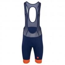 AGU prime cuissard de cyclisme courtes à bretelles blueberry bleu orange