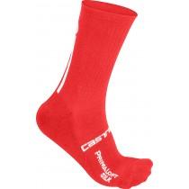 Castelli primaloft 13 chaussettes de cyclisme rouge