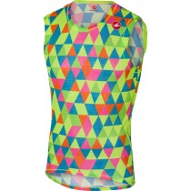 CASTELLI Pro Mesh Base Layer Sleeveless Multicolor Fluo