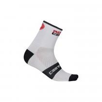 Castelli rosso corsa 13 chaussettes de cyclisme blanc