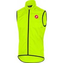 Castelli squadra gilet coupe-vent jaune fluorescent