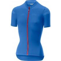 Castelli promessa 2 maillot de cyclisme manches courtes femme riviera bleu