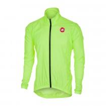 Castelli squadra er veste coupe-vent jaune fluorescent