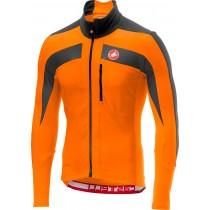 Castelli transparante 4 maillot de cyclisme manches longues orange foncé gris