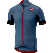 Castelli aero race 4.1 solid maillot de cyclisme manches courtes steel bleu clair