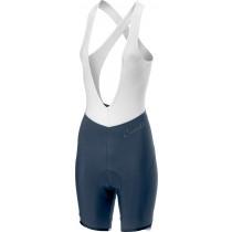Castelli vista cuissard court avec bretelles femme steel blue foncé