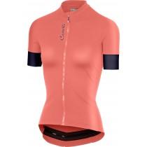 Castelli anima 2 maillot de cyclisme manches courtes femme salmon rose steel blue foncé