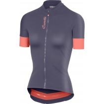 Castelli anima 2 maillot de cyclisme manches courtes femme steel blue foncé salmon rose