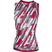 Castelli pro mesh sous-vêtement sans manches femme blanc rouge anthracite