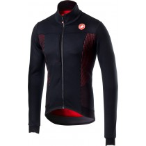 Castelli espresso v veste de cyclisme noir clair rouge
