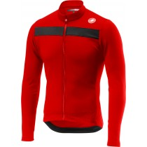 Castelli puro 3 maillot de cyclisme manches longues rouge