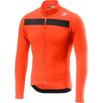 Castelli puro 3 maillot de cyclisme à manches longues orange