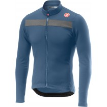 Castelli puro 3 maillot de cyclisme à manches longues steel bleu clair