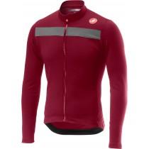 Castelli puro 3 maillot de cyclisme à manches longues matador rouge