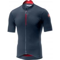 Castelli espresso maillot de cyclisme manches courtes steel bleu foncé rouge