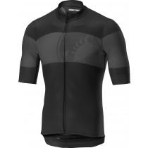 Castelli ruota maillot de cyclisme manches courtes noir clair