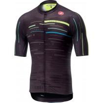 Castelli tabula rasa maillot de cyclisme manches courtes multicolor gris foncé fluo jaune