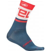 Castelli free kit 13 chaussures de cyclisme steel blue clair rouge