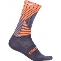 Castelli pro mesh 15 chaussures de cyclisme steel blue foncé orange