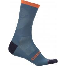 Castelli ruota 13 chaussures de cyclisme steel bleu clair orange