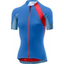 Castelli scheggia 2 maillot de cyclisme manches courtes femme riviera bleu hibiscus