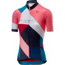 Castelli ventata maillot de cyclisme manches courtes femme multicolor turquoise vert