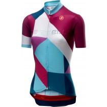 Castelli ventata maillot de cyclisme manches courtes femme multicolor steel bleu foncé
