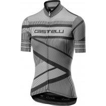 Castelli millerighe maillot de cyclisme manches courtes femme blanc noir
