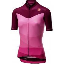 Castelli tabula rasa maillot de cyclisme manches courtes femme onda cyclamen rose