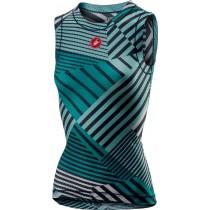 Castelli pro mesh vêtement sans manches femme aruba bleu turquoise vert