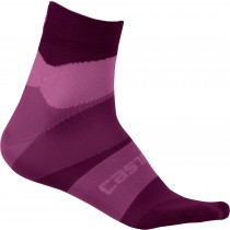 Castelli tr chaussettes de cyclisme femme onda cyclamen violet