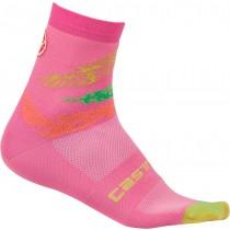 Castelli tr chaussettes de cyclisme femme piuma rose