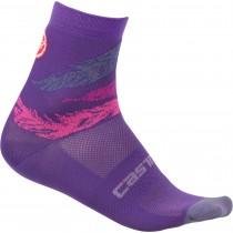 Castelli tr chaussettes de cyclisme femme piuma violet