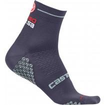 Castelli rosa corsa due chaussettes de cyclisme femme steel bleu foncé