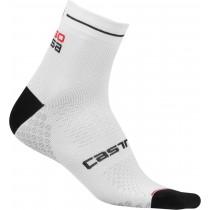 Castelli rosa corsa due chaussettes de cyclisme femme blanc